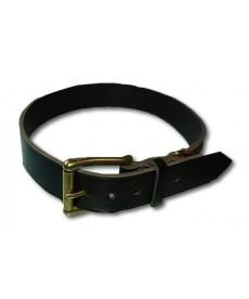 Collar 80 cm black leather