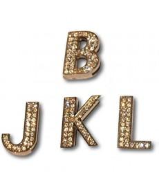 30 mm Forgyldt Bling bogstaver